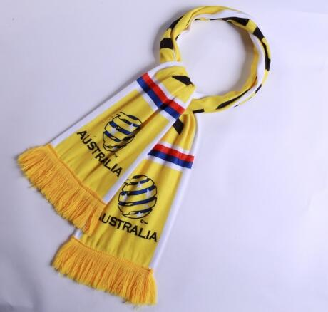 Australia 2018 World Cup Yellow Soccer Scarf